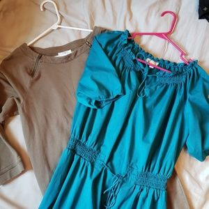 Lot of 2 small LOFT knee length dresses